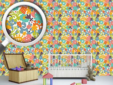 Pattern Wallpaper Floral Microcosm