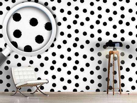 Pattern Wallpaper Coal Dots