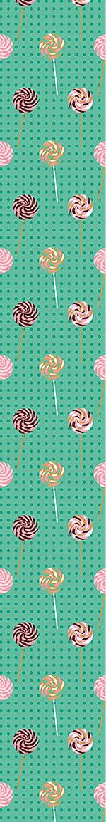 Carta da parati Lollipop Polkadot