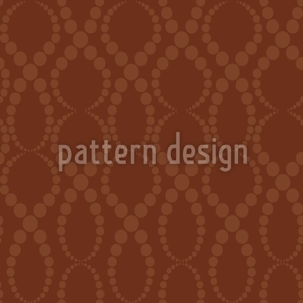 Papier peint design Brown Pearls