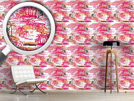 Pattern Wallpaper Tropical Paradise