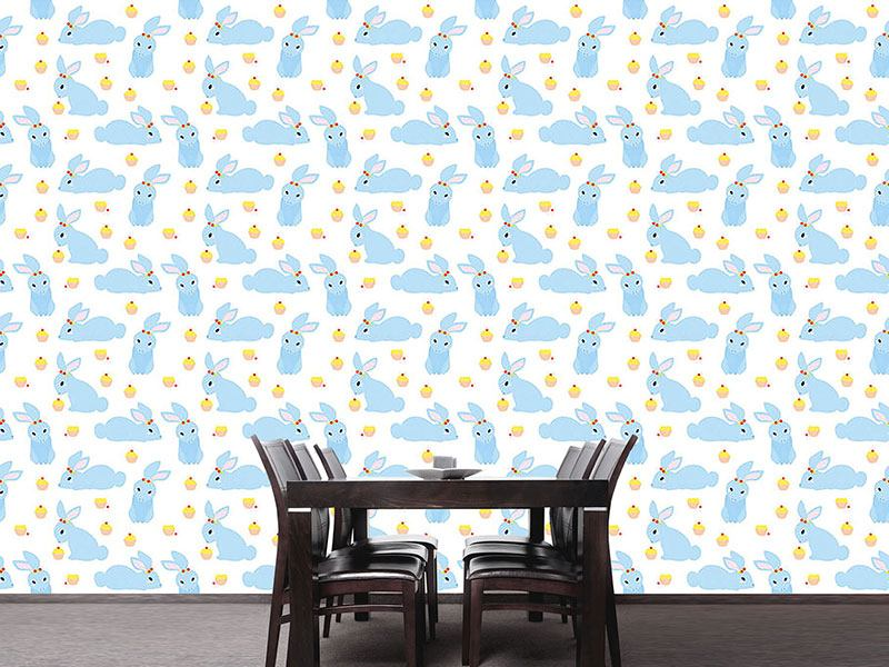 Pattern Wallpaper Benny Bunny