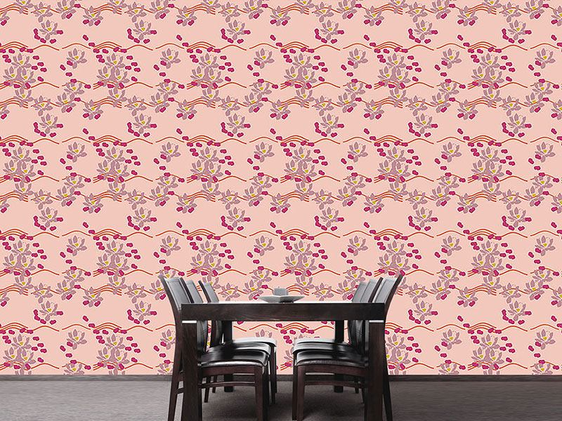 Pattern Wallpaper Lotus Love Pink