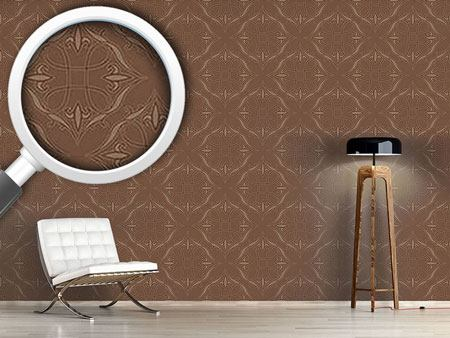 Pattern Wallpaper Renaissance In Brown