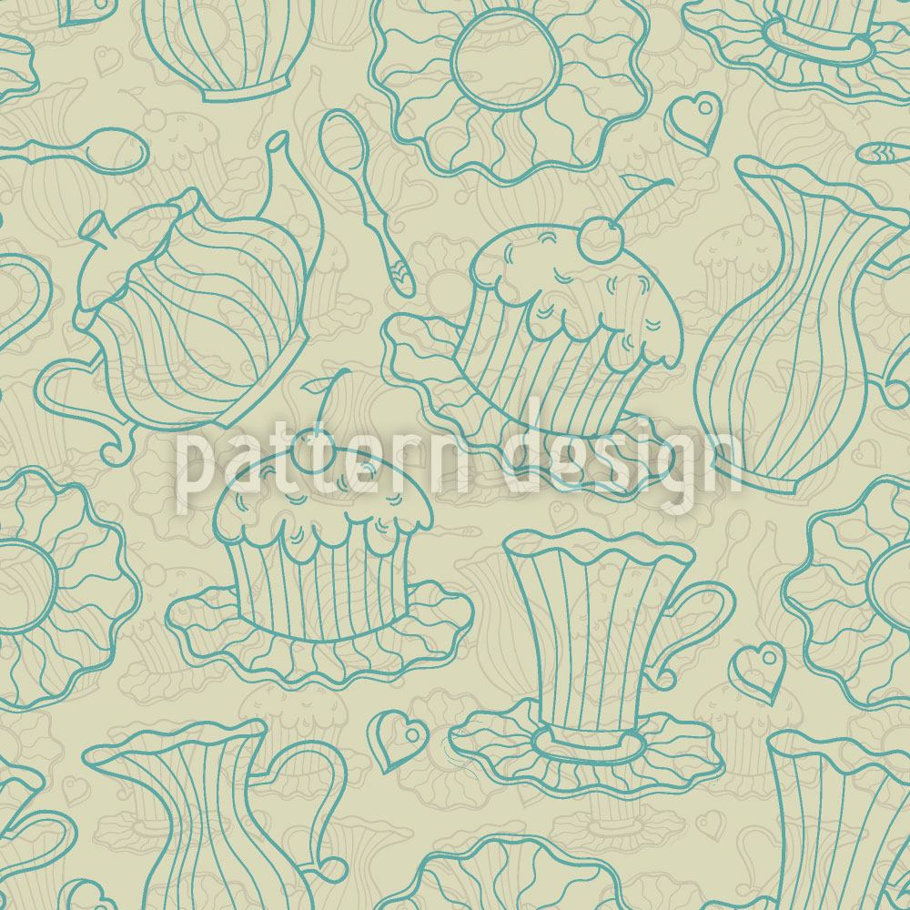 Pattern Wallpaper Hen Party Yellow