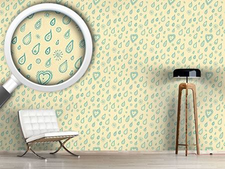 Papier peint design Yellow Summer Rain