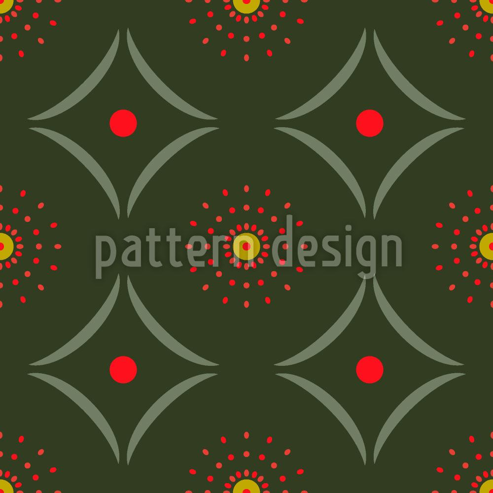 Papier peint design Dotty Meets Check
