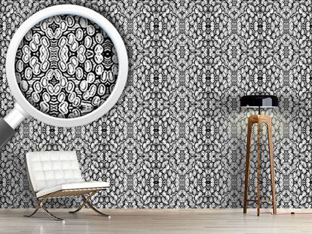 Pattern Wallpaper Black and White Pop