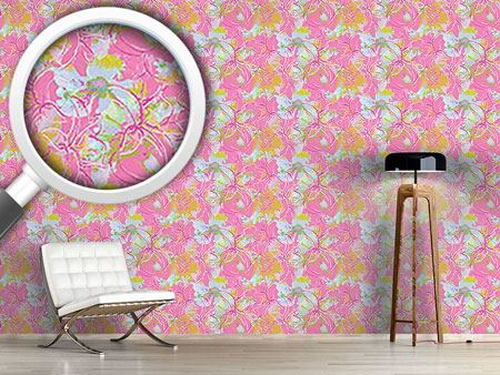 Pattern Wallpaper Liliana In Pink