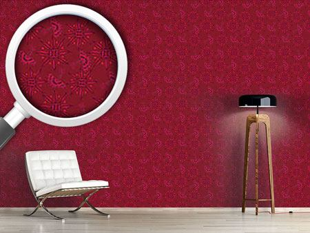 Pattern Wallpaper Flora In Cranberry