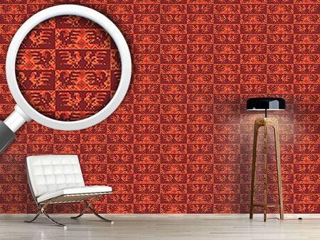 Pattern Wallpaper Solar Rooster Dance