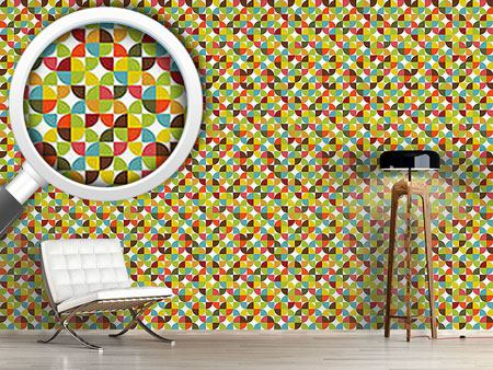 Pattern Wallpaper Quartered Circles