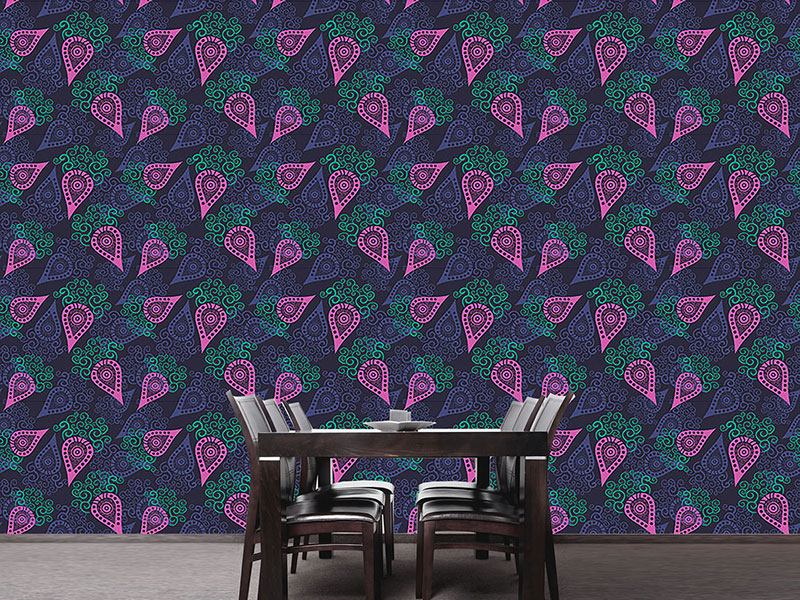Papier peint design Paisley Loves Swirls