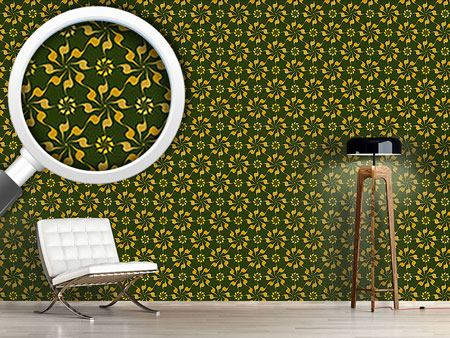 Pattern Wallpaper Spiral Floral