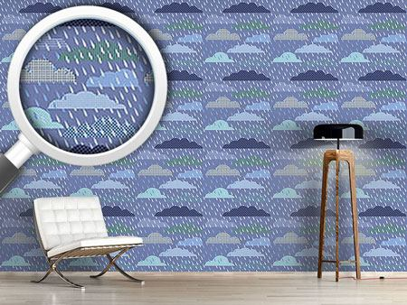 Pattern Wallpaper Thunder Cloud Patchwork