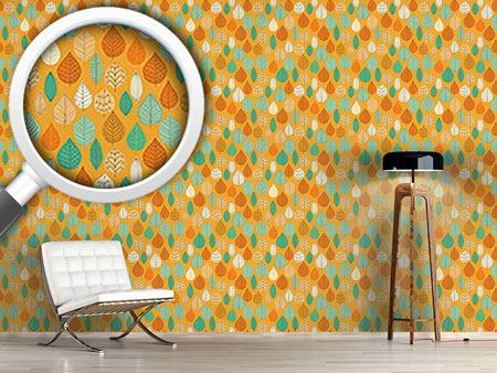 Pattern Wallpaper The Falling Leaves