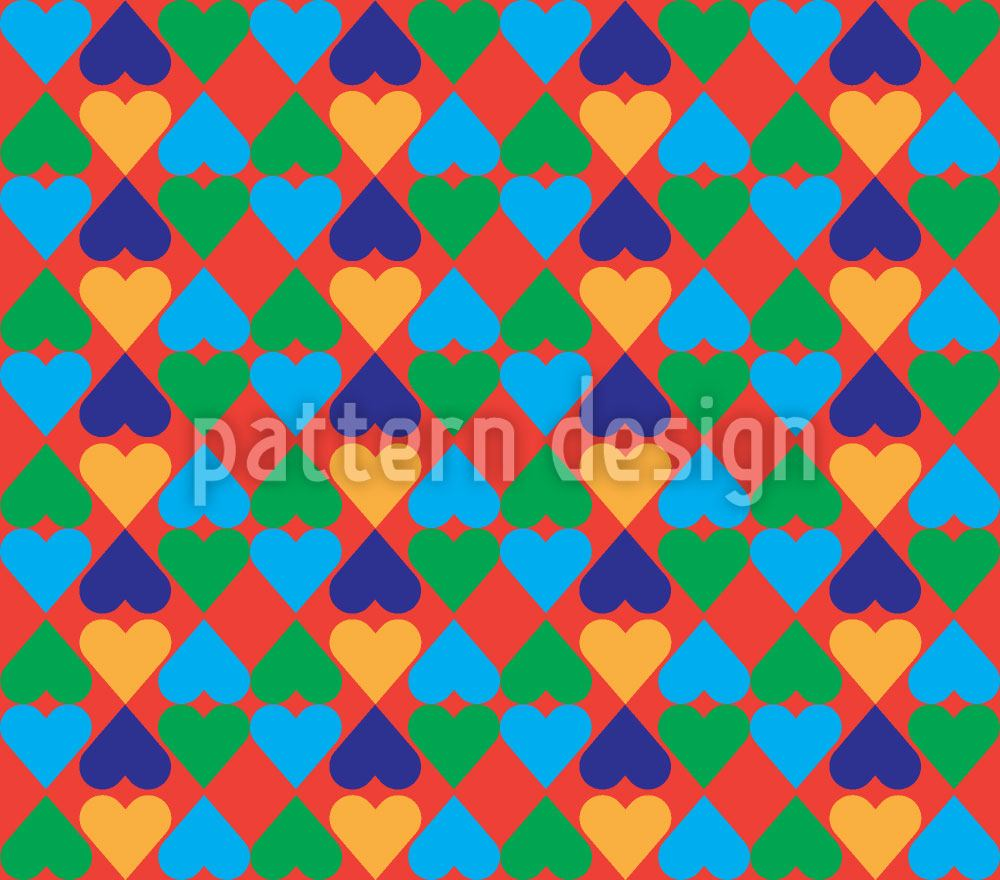 Pattern Wallpaper Buffoonery With Hearts
