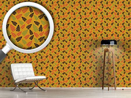 Pattern Wallpaper Autumn Leaves Everywhere