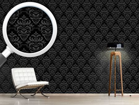 Pattern Wallpaper Dark Baroque