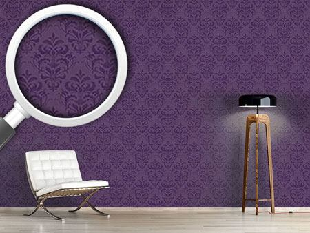 Pattern Wallpaper Lilac Baroque