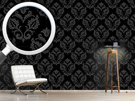 Pattern Wallpaper Aramis Black