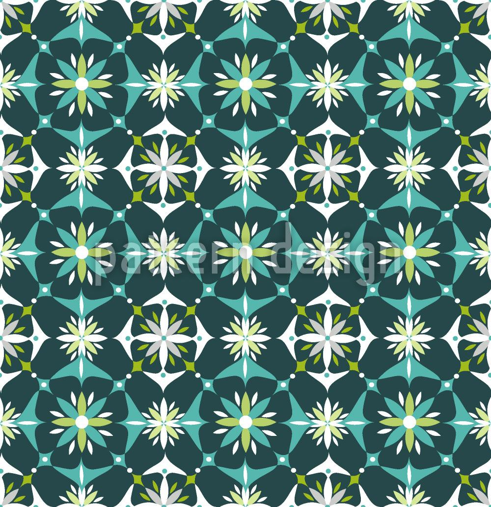 Pattern Wallpaper Floral Mosaic In Spring