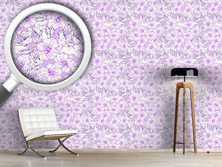 Pattern Wallpaper Hibiscus Splendor