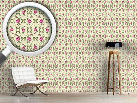 Pattern Wallpaper Vintage Roses