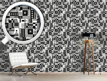 Pattern Wallpaper Zigzag Around