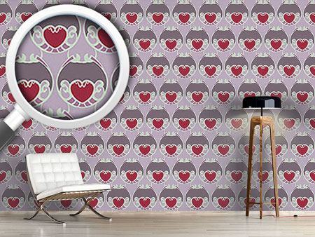 Papier peint design Sugary Hearts