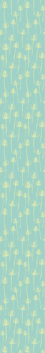 Pattern Wallpaper Thistle Silhouettes