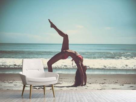 Photo Wallpaper Beach gymnastics