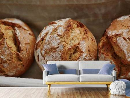 Photo Wallpaper Fresh rye bread rolls