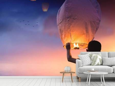 Photo Wallpaper light lanterns