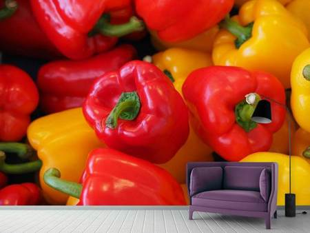 Photo Wallpaper Fresh sweet pepper