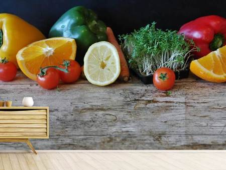 Photo Wallpaper fruit and vegetables