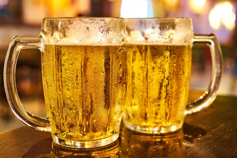 Photo Wallpaper 2 Beer Glasses Order Now