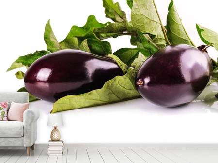 Photo Wallpaper Fresh eggplants