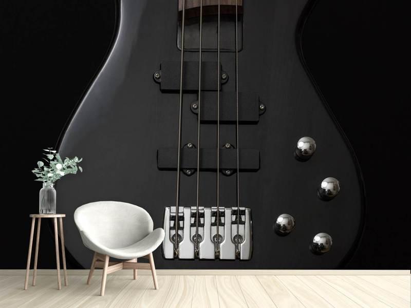 Photo Wallpaper Guitar In Black Shop Now