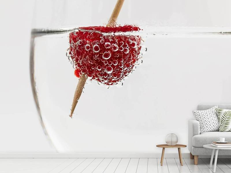 Fototapete Himbeer-Cocktail