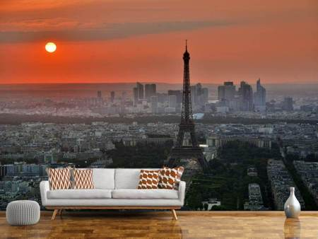 Photo Wallpaper Paris in the evening light