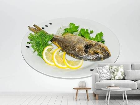 Photo Wallpaper Grilled fish