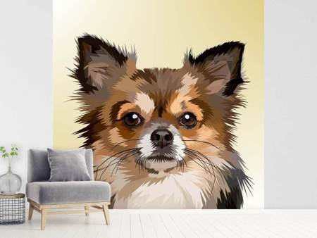 Photo Wallpaper Pop Art Dog Portrait