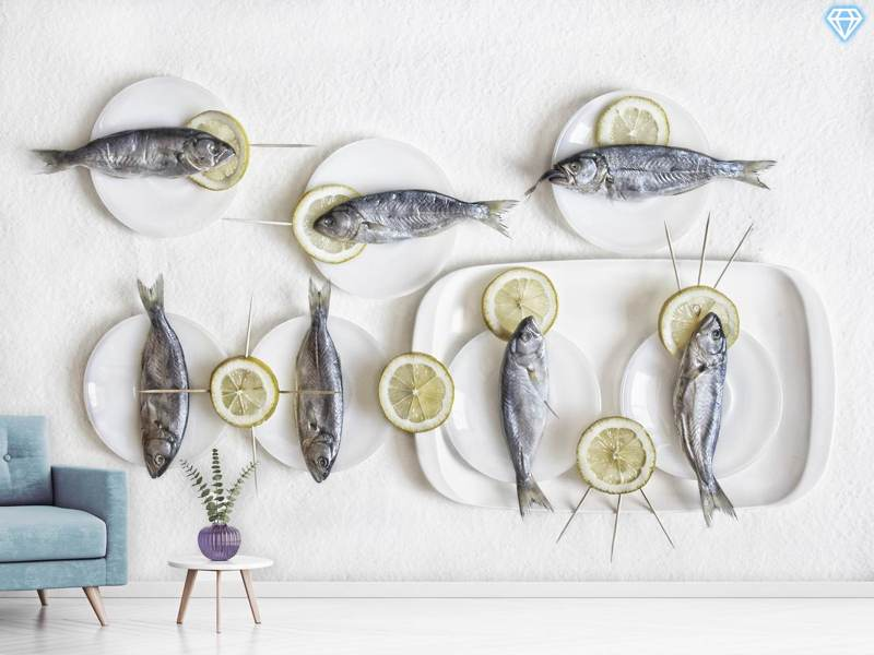Photo Wallpaper Still Life With Fish