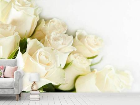 Photo Wallpaper White Roses