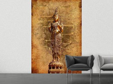 Papier peint photo Statue de Bouddha en or