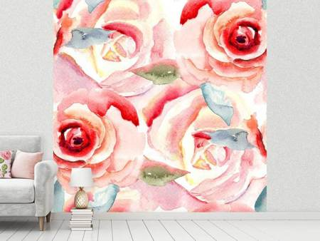 Photo Wallpaper Painting Rose