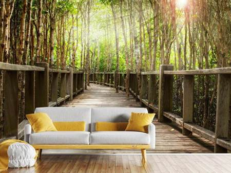 Photo Wallpaper Wooden Bridge