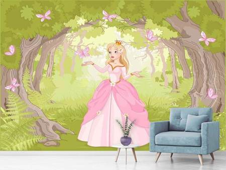 Photo Wallpaper Princess in the Wood