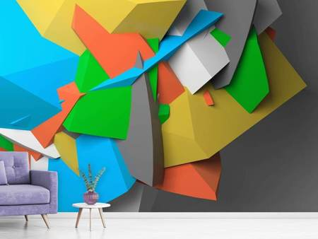 Photo Wallpaper 3D-Geometric Figures